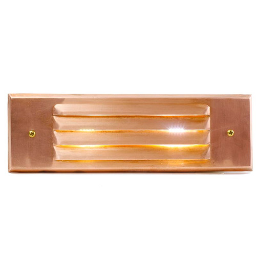 Raw Copper Louver Rectangular Recessed Step Light - PRLC-HL-DV