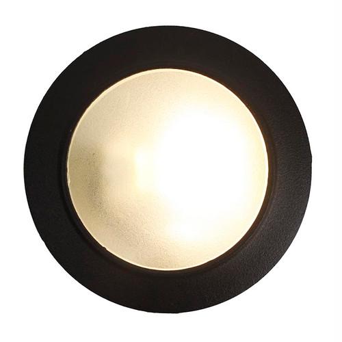 "12V / 120V 3.5"" Cast Brass Open Face Wall Marker Light - PDS70"