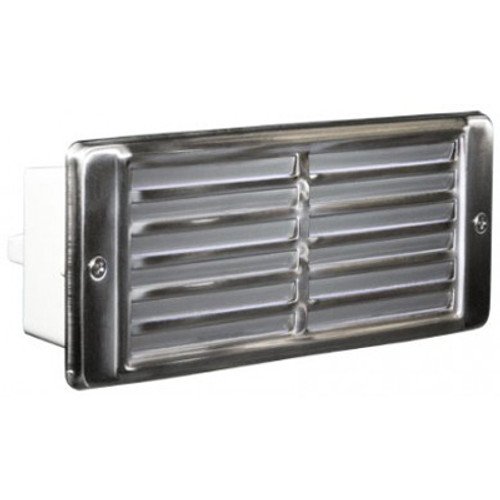 12V Stainless Steel Louvered Recessed Brick Step Light - LV600-SS304 - DABMAR