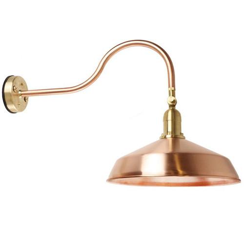Solid Raw Copper Metal Gooseneck Barn Light Aqlighting
