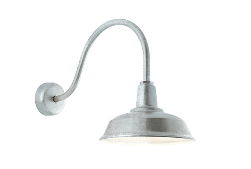 Heavy duty galvanized gooseneck barn light aqlighting shade diameter required aloadofball Choice Image