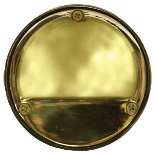"12V 4"" Brass ""Eyebrow"" Surface Mount Deck Light - DABMAR LV611"