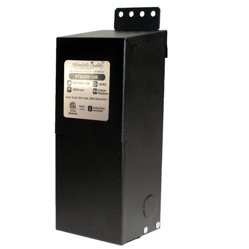 12V 100w Indoor/Outdoor Rated AC Transformer w/ Boost Tap - PTXLKM-100