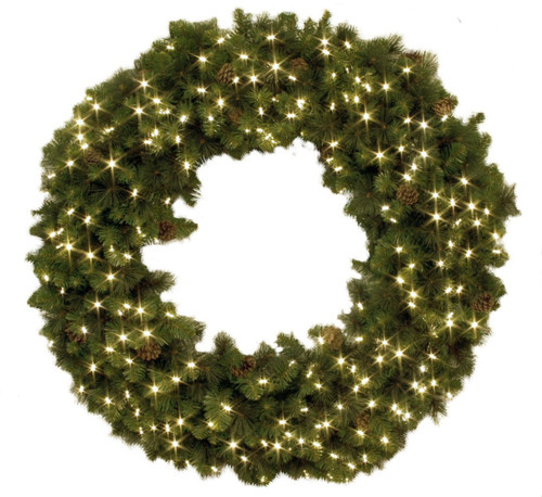 "36"" Pre-Lighted Holiday Wreath"