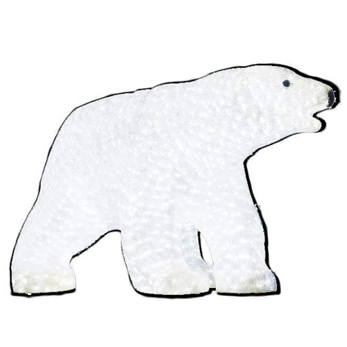 "LED Lighted Christmas Animal - 27"" Lighted LED Polar Bear - Commercial Grade"