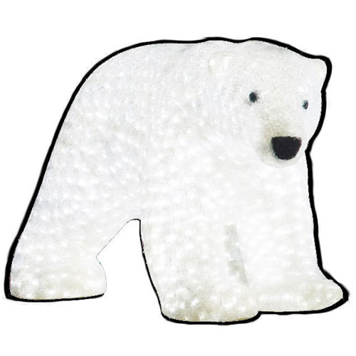 "LED Lighted Christmas Animal - 23"" Lighted LED Polar Bear - Commercial Grade"