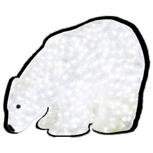 "LED Lighted Christmas Animal - 16"" Lighted LED Polar Bear - Commercial Grade"
