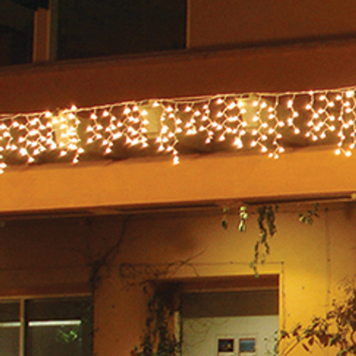 LED Warm White 9.5' Icicle Light String - 105 LEDs
