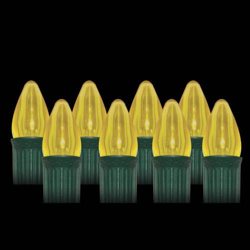 LED Yellow Smooth C7 Light Bulbs