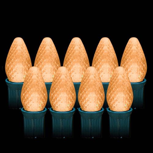 LED Orange Faceted C7 Light Bulbs (25 count)