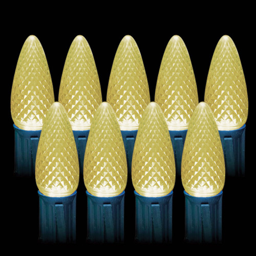 LED Warm White Faceted C9 Light Bulbs (25 count)