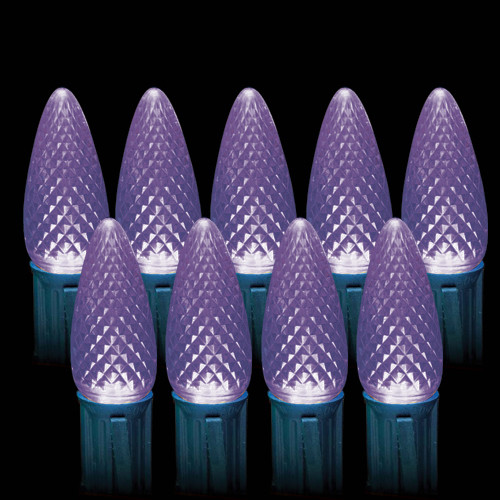LED Purple Faceted C9 Light Bulbs (25 count)