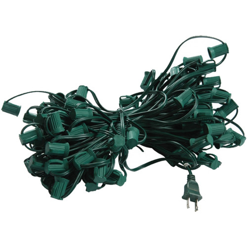 100' C7 Plug In Lighting Strand (shown in green)