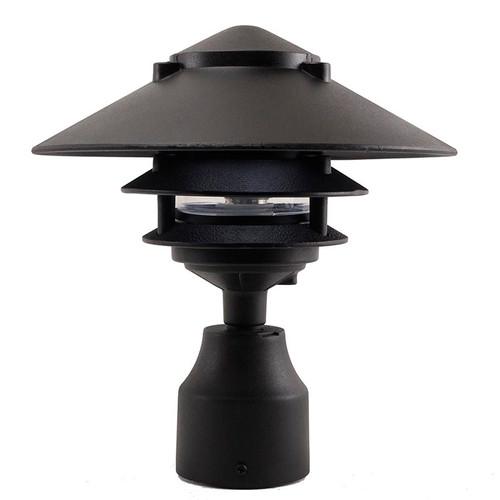 12V / 120V Large Top Cast Aluminum 3 Tier Pagoda Post Light - PPC351