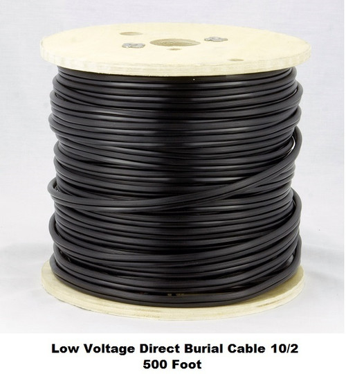 Landscape Lighting Wire Gauge: 500 Ft.10 Gauge Low Voltage Underground Direct Burial