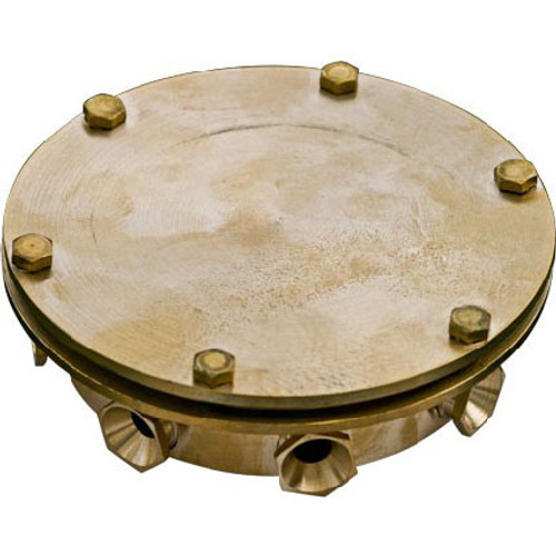 8 Way Brass Underwater Junction Box UWB-8 Top View