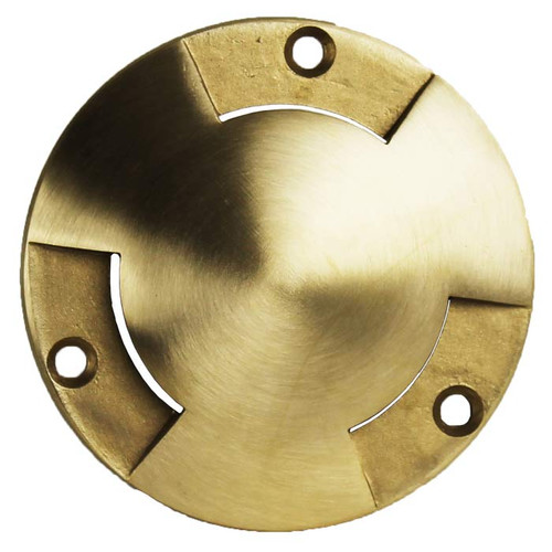 "3 3/4"" Raw Brass Tri-Directional ""Mushroom"" Low Fan Cover for PGC3 Series"