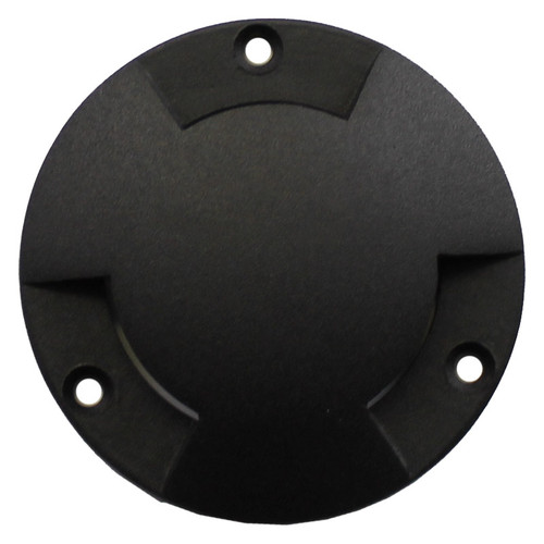 "3 3/4"" Black Brass Tri-Directional ""Mushroom"" Low Fan Cover for PGC3 Series"