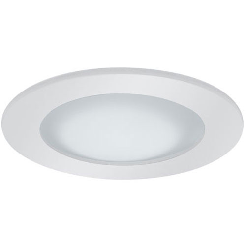 "White 12V 3"" Shower Trim w/ Frosted Lens - Wet Locations - C3613"