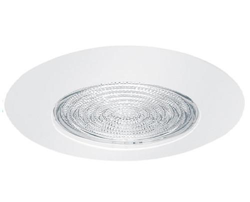 """White 120V 5"""" Fresnel Lens Shower Trim -Wet Location- C505"""