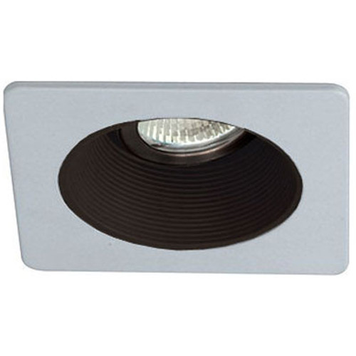 "White 12V 3"" Adjustable Stepped Baffle Square Trim - C3778"