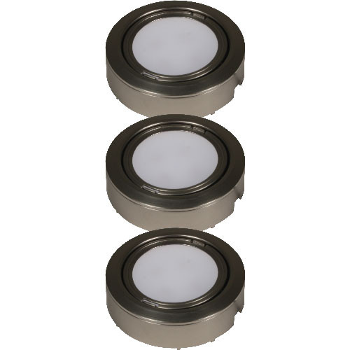 Plastic LED 3 Puck Light Kit w/ Inline Dimmer - LVP-3P