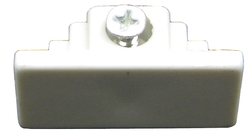 Track End Cap TA-177 White