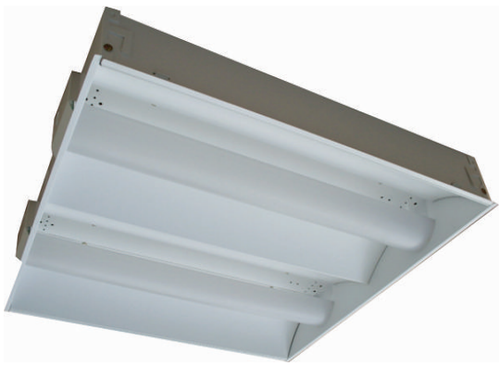Commercial Low Profile Dual Basket Recessed Fluorescent Ceiling Light -UD Series