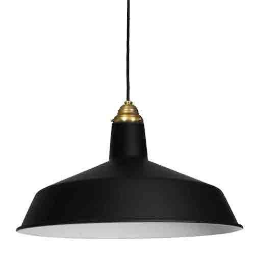Shown in Black with Brass Cap