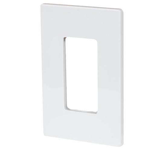 Aspire Screwless Single Gang Wall Plate ASP-9521 White Satin