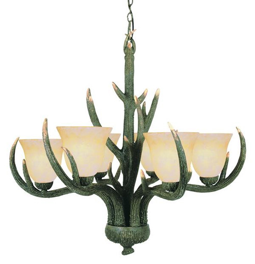 6 Light Rustic Antler Chandelier