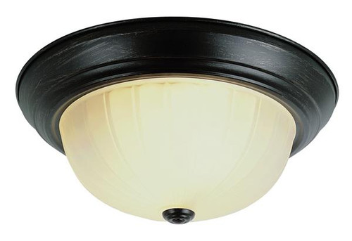 2 Light Rubbed Oil Bronze Ceiling Fixture 132131ROB
