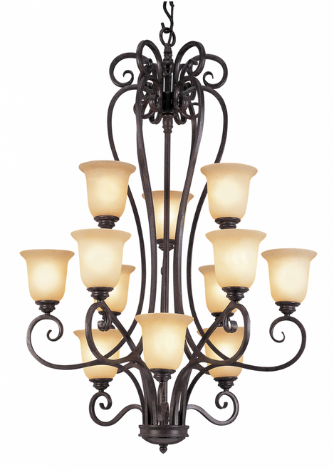 12 Light Candelabra Iron Scroll 70297