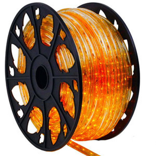 150 Ft Orange LED Rope Light Kit - 120V Standard