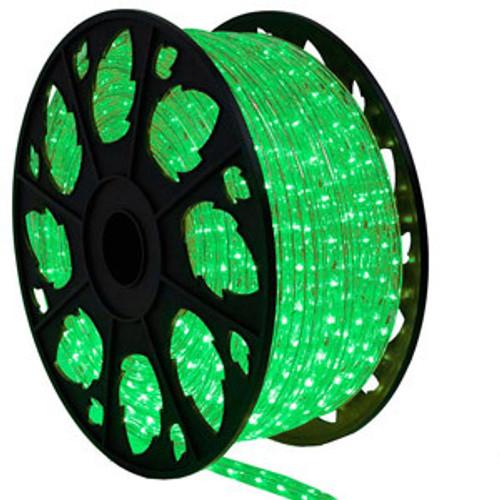 120v outdoor green led rope light kit aqlighting. Black Bedroom Furniture Sets. Home Design Ideas