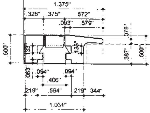 12V LEDtreads - Carpet to Wall Extrusion