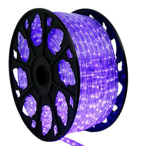 150 Ft Purple LED Rope Light Kit - 120V Standard IP65 Waterproof
