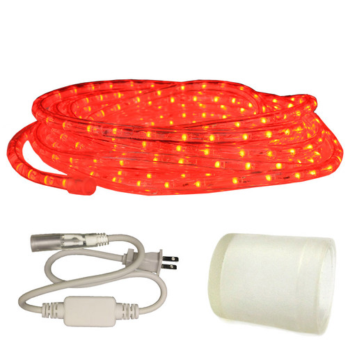 120v Custom Length Red LED Type 513 Rope Light - 513PRO-SERIES - Custom Cut