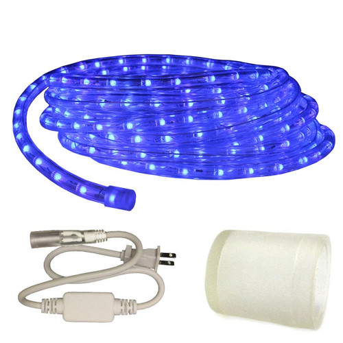 120v Custom Length Blue LED Type 513 Rope Light - 513PRO-SERIES - Custom Cut