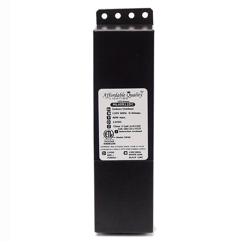 Indoor/Outdoor 12V 40w DC LED Driver Dimmable Transformer
