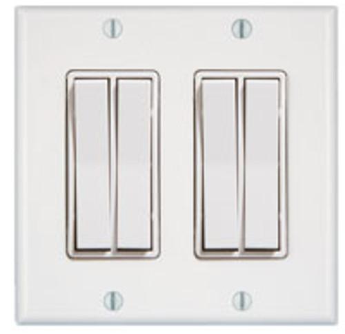 2 Gang 4 Rocker Wireless Light Switch