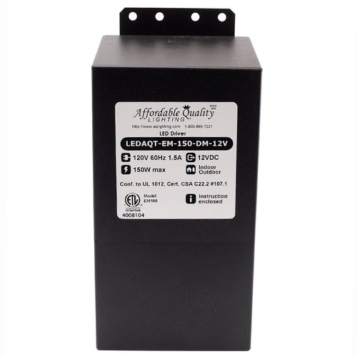 Indoor/Outdoor 12V 150w DC LED Driver Dimmable Transformer