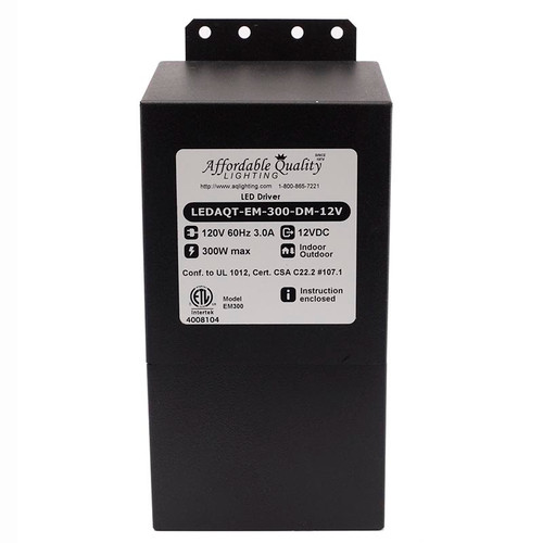 Indoor/Outdoor 12V 300w DC LED Driver Dimmable Transformer