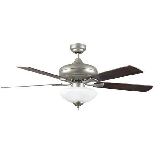 "Valore Satin Nickel Ceiling Fan - 52"" Diameter"
