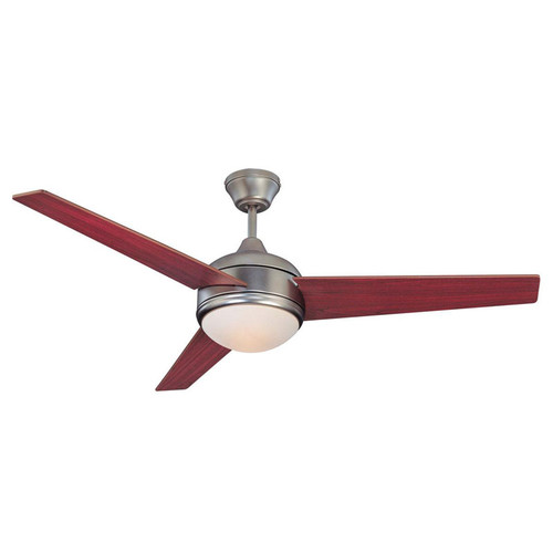 "Skylark Satin Nickel Ceiling Fan - 52"" Diameter"
