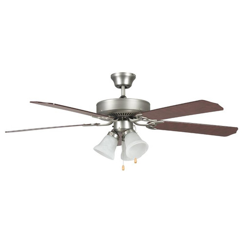 "52"" Heritage Home Satin Nickel Ceiling Fan"