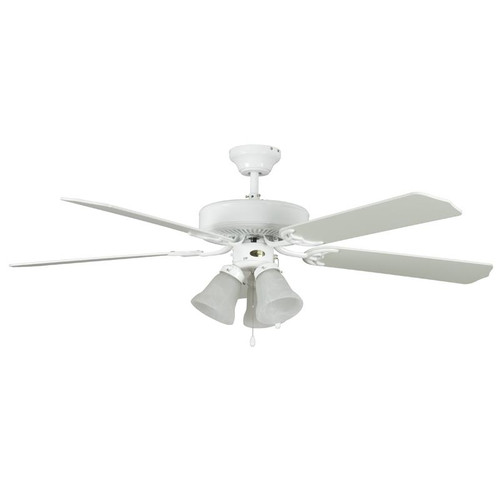 "Heritage Home White Ceiling Fan - 52"" Diameter"