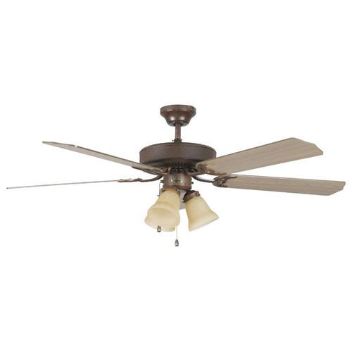 "52"" Heritage Home Rubbed Bronze Ceiling Fan"