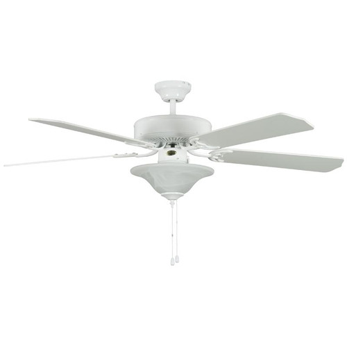 "Heritage Square White Ceiling Fan - 52"" Diameter"