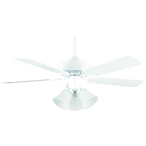 "Hertiage Square White Ceiling Fan - 42"" Diameter"